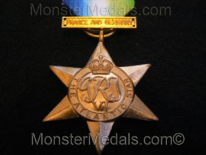 FULL SIZE WW2 ATLANTIC STAR WITH FRANCE & GERMANY CLASP REPLACEMENT COPY